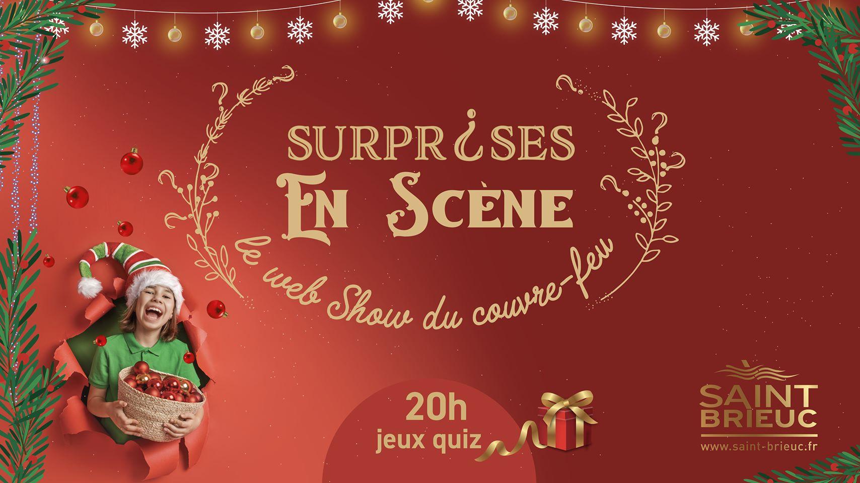 Eclairage et prise de son pour Surprises en scène - web show du couvre-feu de Saint-Brieuc